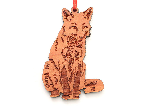 Lucky Day Fox Ornament ND - Nestled Pines