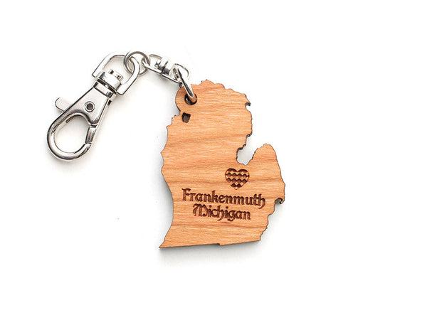 Frankenmuth Michigan State Key Chain - Nestled Pines