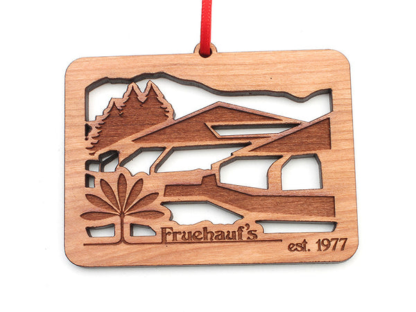 Fruehauf's Building Facade Colorado Insert Ornament - Nestled Pines