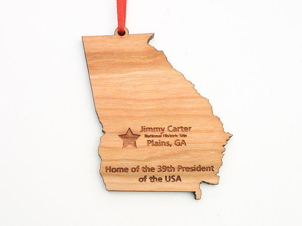 Jimmy Carter Georgia State Ornament - Nestled Pines