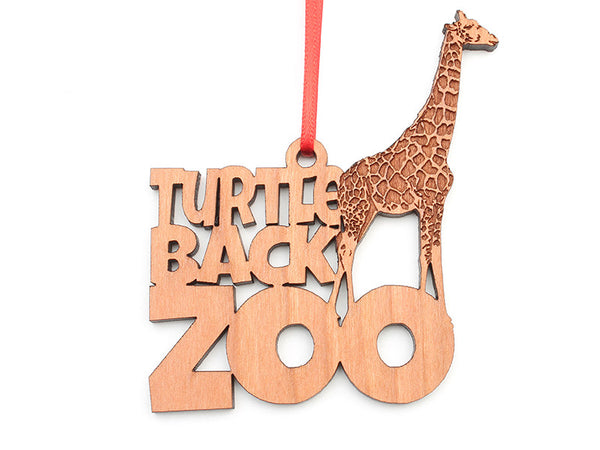 Turtle Back Zoo Giraffe Text Ornament - Nestled Pines
