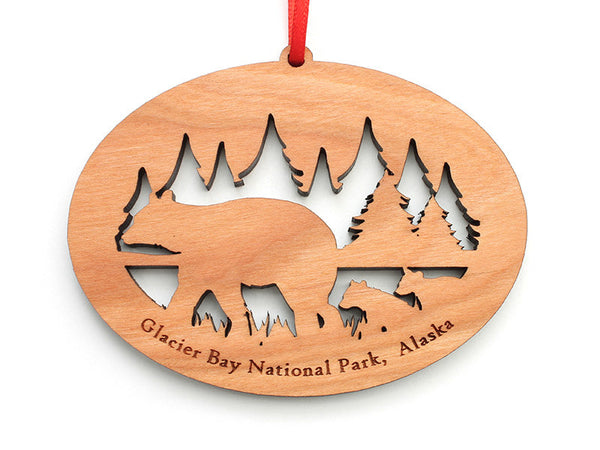 Glacier Bear NW Ornament - Nestled Pines