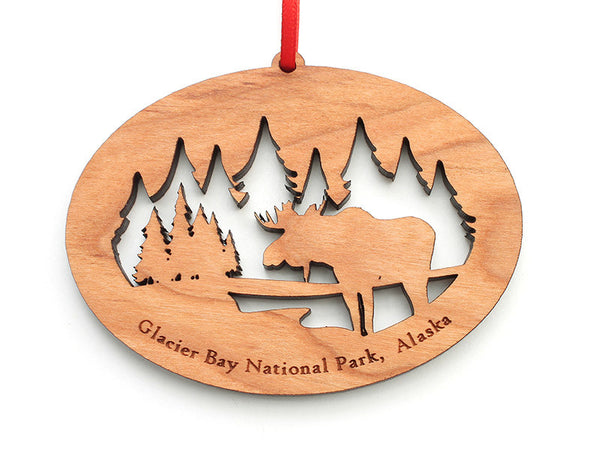 Glacier Moose NW Ornament - Nestled Pines