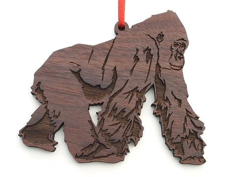 Gorilla Silverback Adult Male Ornament - Nestled Pines