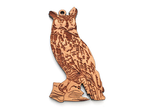 Great Horned Owl Ornament - Nestled Pines