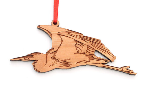 Great Blue Heron in Flight Ornament - Nestled Pines