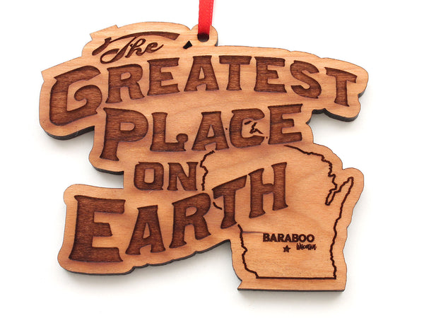 Serenity Spa Greatest Place on Earth Logo Ornament