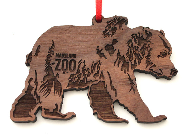 Maryland Zoo Grizzly Bear Ornament