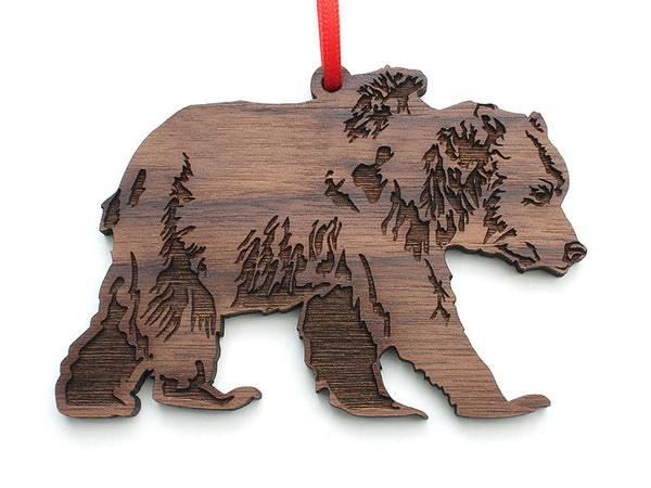 Grizzly Bear Ornament - Nestled Pines