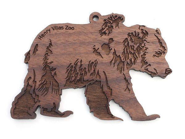Henry Vilas Grizzly Bear Ornament