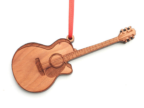Guitar Ornament - Nestled Pines