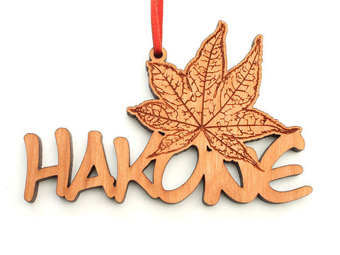 Hakone Japanese Maple Text Ornament - Nestled Pines