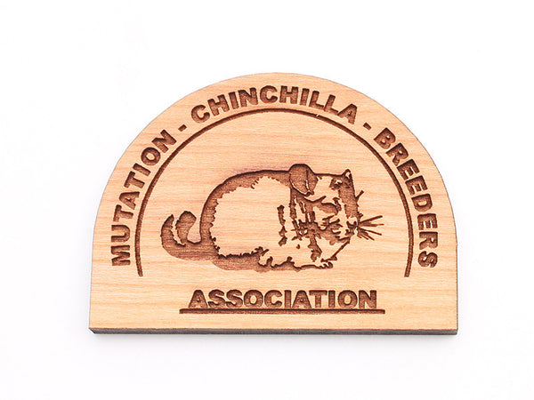 Mutation Chinchilla Breeders Association Magnet - Nestled Pines