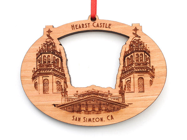 Hearst Castle Oval Ornament - Nestled Pines