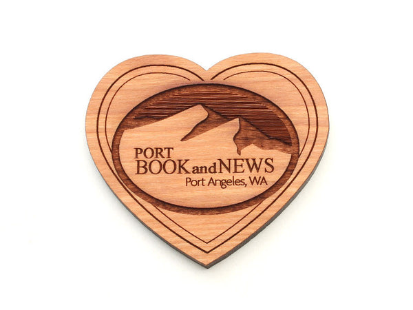 Port Book and News Heart Logo Magnet
