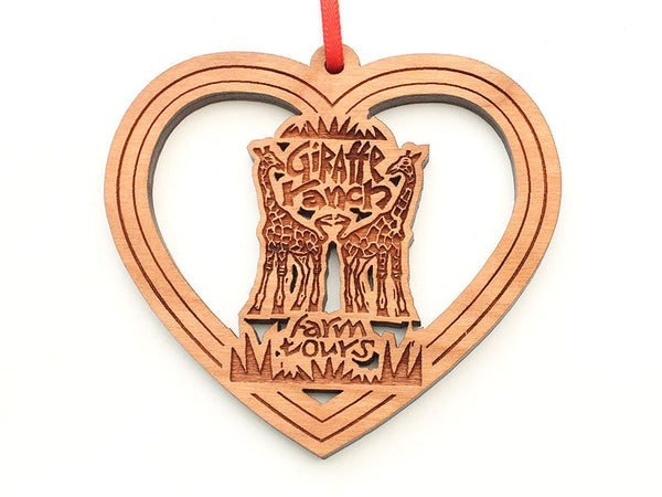 Giraffe Ranch Heart Logo Ornament