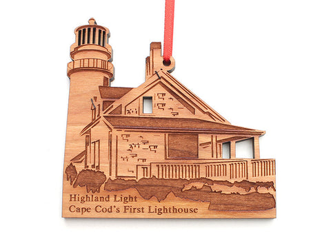 Cape Cod Highland Light Ornament - Nestled Pines