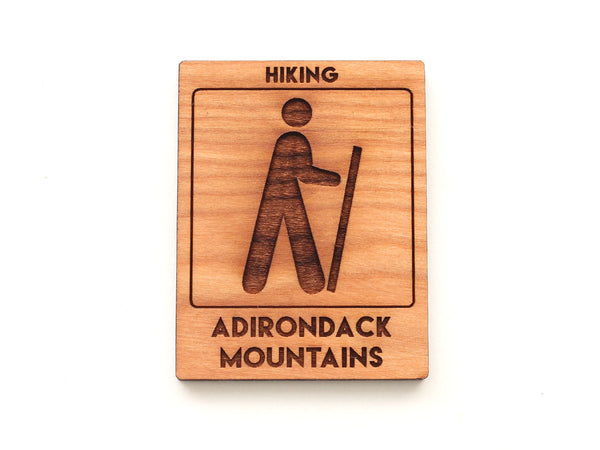 Hike Adirondack Trail Sign Magnet