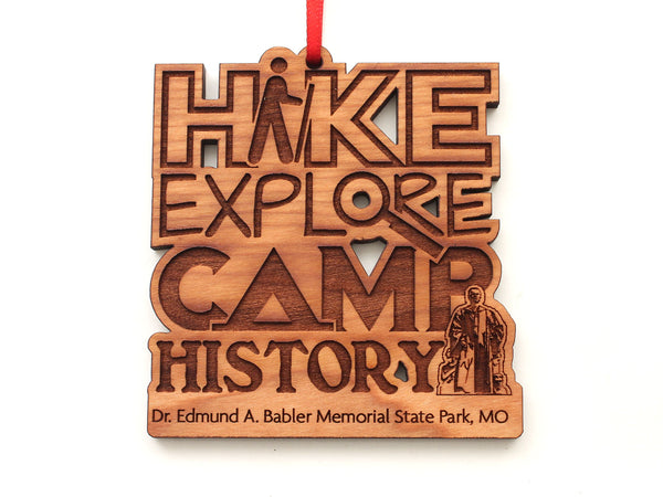 Hike Explore Camp History Babler State Park Ornament