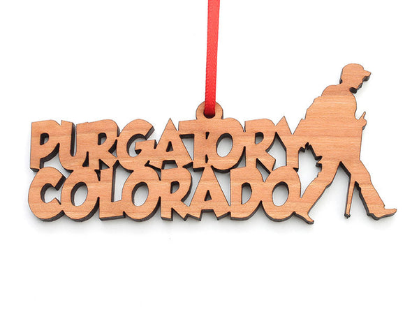 Purgatory Colorado Hiker Text Ornament