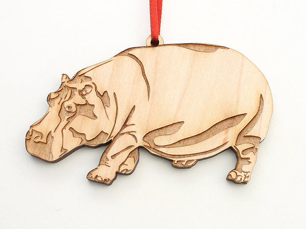Hippopotamus Ornament - Nestled Pines