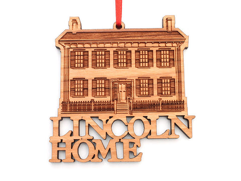 Lincoln Home Text Ornament - Nestled Pines
