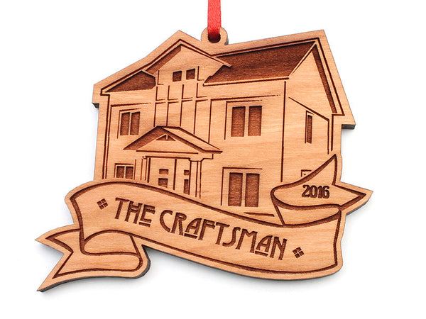 The Craftsman Custom House Ornament - Nestled Pines