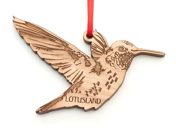 Lotusland Hummingbird Ornament