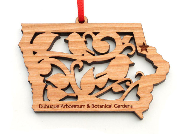 Dubuque Arboretum Iowa State with Bird Insert Ornament