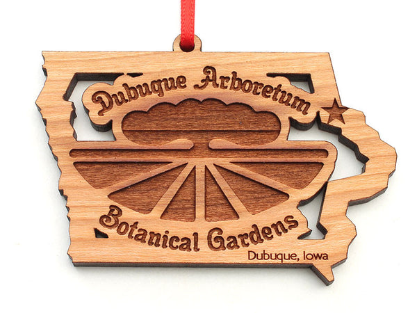 Dubuque Arboretum Iowa State Shape Logo Insert Ornament