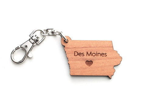 Iowa State Key Chain - Nestled Pines