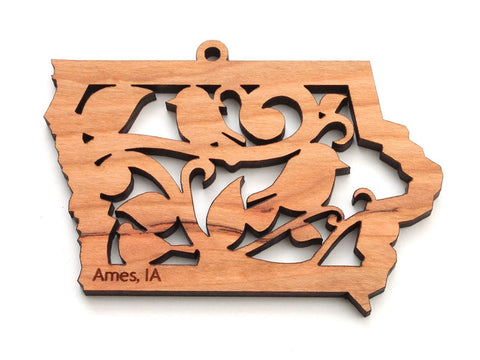 Iowa Bird State Ornament - Nestled Pines