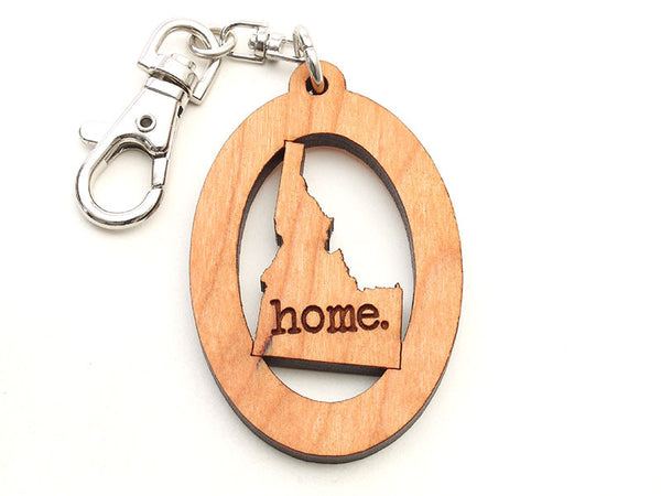 Birds Nest Harrison Idaho State Shape Key Chain