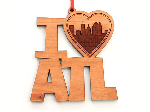 I Heart ATL Text Ornament - Nestled Pines
