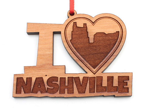 I Heart Nashville Ornament - Nestled Pines