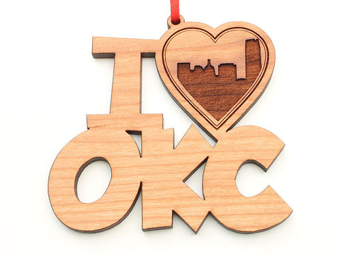 Oklahoma City I Heart OKC Ornament