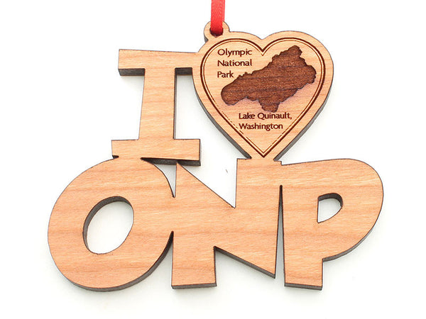 Olympic National Park I Heart ONP Lake Quinault Ornament