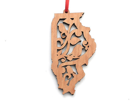 Illinois Bird State Ornament - Nestled Pines