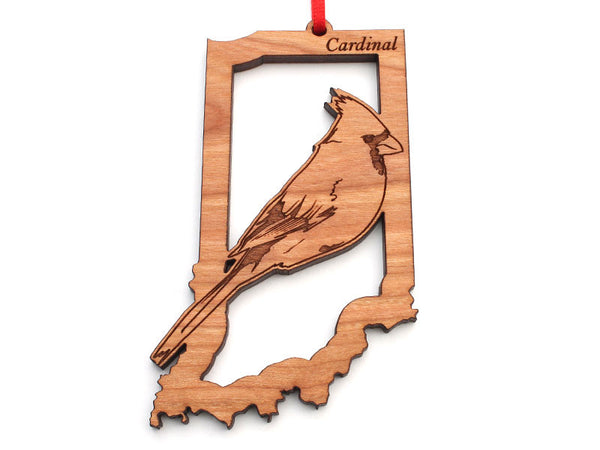 Indiana State Bird Ornament - Cardinal