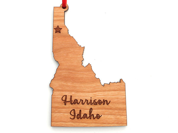 Birds Nest Idaho State Engraved Harrison Ornament