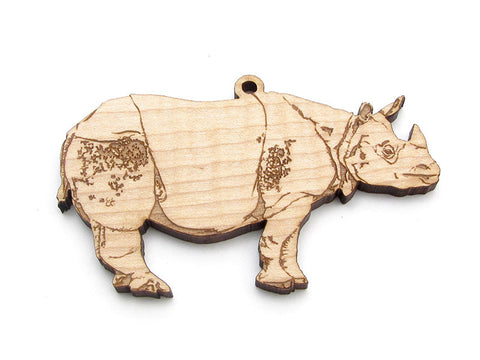 Indian Rhino Ornament - Nestled Pines