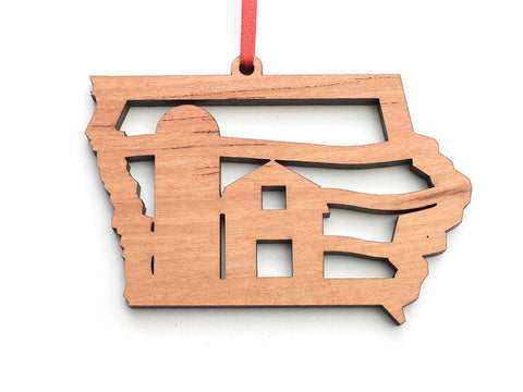 Iowa Barn State Ornament - Nestled Pines