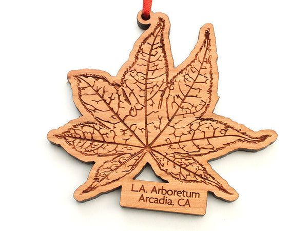 L. A. Arboretum Japanese Maple Leaf Custom Ornament - Nestled Pines