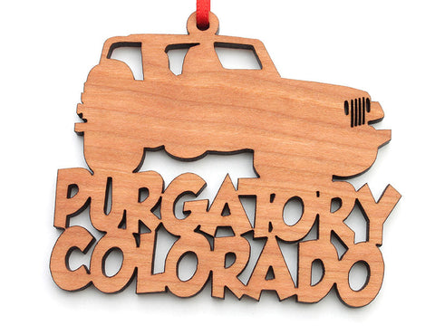 Purgatory Colorado Jeep Text Ornament