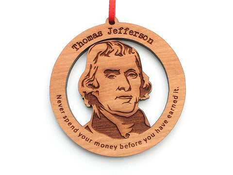 Thomas Jefferson Ornament - Nestled Pines