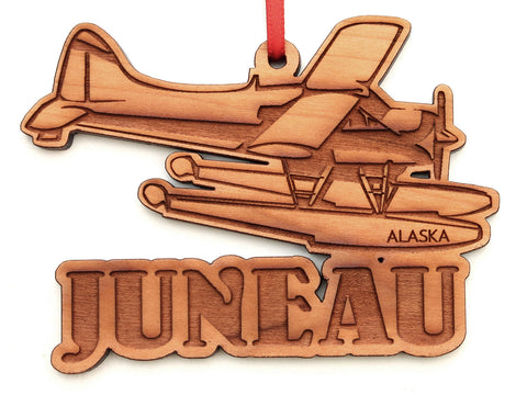 Juneau Alaska Float Plane Ornament