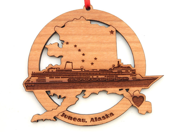 Juneau Alaska State Cruise Ship Insert Ornament