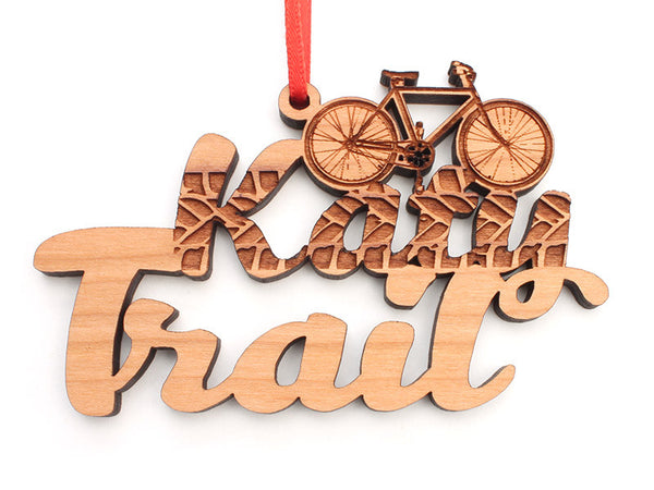 Katy Depot Bike Custom Text Ornament - Nestled Pines