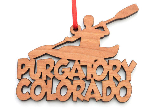 Purgatory Colorado Kayak Text Ornament