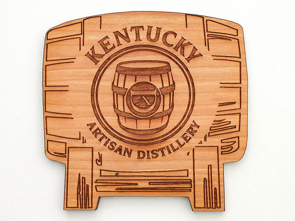 Kentucky Artisan Distillery Barrel Coaster Set of 4